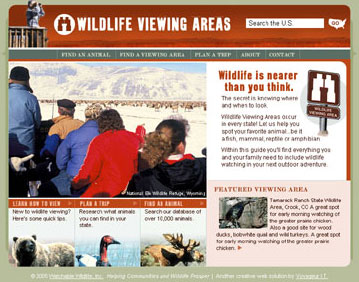 Wildlife Viewing Areas Screenshot